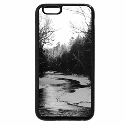 iPhone 6S Plus Case, iPhone 6 Plus Case (Black & White) - Winter At Crowe River