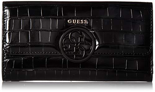 GUESS Kamryn Croc Multi Clutch Wallet, black