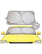 kinder Fluff Windshield Sun Shade -Sunshades Made 210T Fabric Possible Maximum UV Sun Protection –Car Shades That Keep Your car Cooler-Foldable Windshield Sunshade