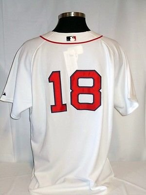 Aaron Hill Boston Red Sox Authentic Home Jersey w/ Colon Cancer Patch