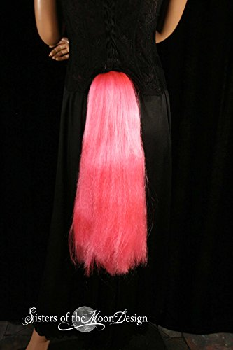 Hand made Pinkie hot pink Pony Tail tie on MLP costume belt -