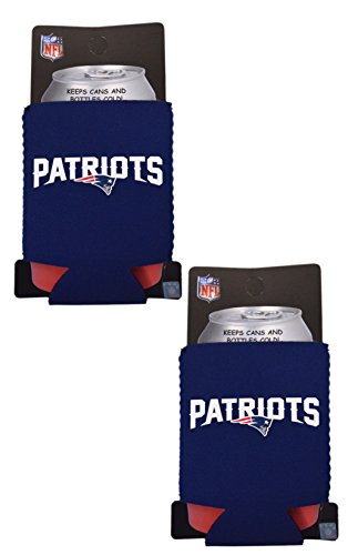 - Official National Football League Fan Shop Authentic 2-Pack NFL Insulated 12 Oz Can Cooler (New England Patriots - Small Logo)