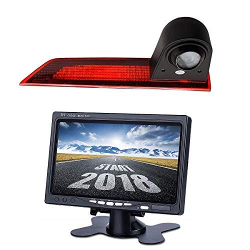 HD 720p Achteruitrijcamera voor Transporter Ford Transit Custom V362 2012-2018, 3e Remlicht Backup Camera Kit, Met 7.0…