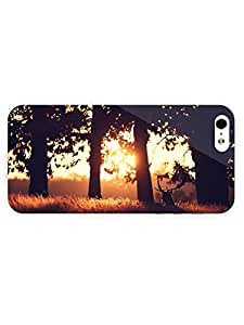 3d Full Wrap Case for iPhone 5/5s Animal Deer In The Sunlight