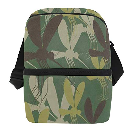 Lunch Bag Camouflage Mosquitoes Portable Cooler Bag Adult Leakproof Thermos Box Zipper Tote Bags for Party