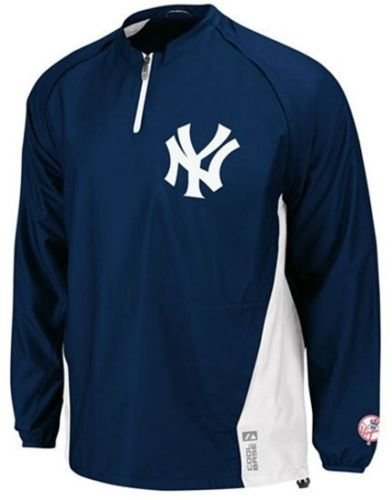 Majestic New York Yankees Authentic Triple Peak 1/4 Zip Jacket Big & Tall Sizes (3XL)