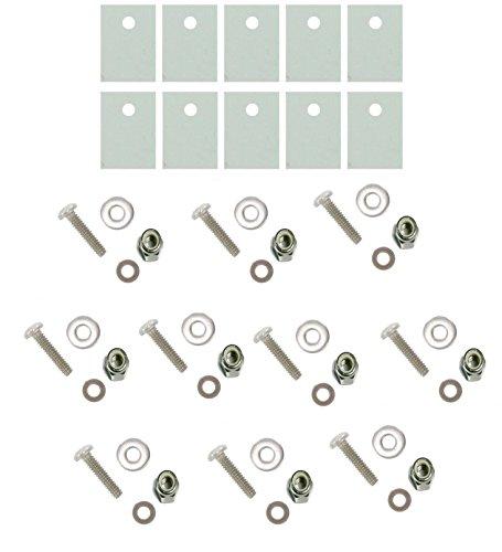 10Pcs TO-220 Heatsink Mounting/Insulating Kit, by Tech (220 Kit)