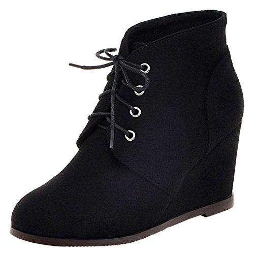 Heel High Boots Short COOLCEPT Black Women Oq8xI