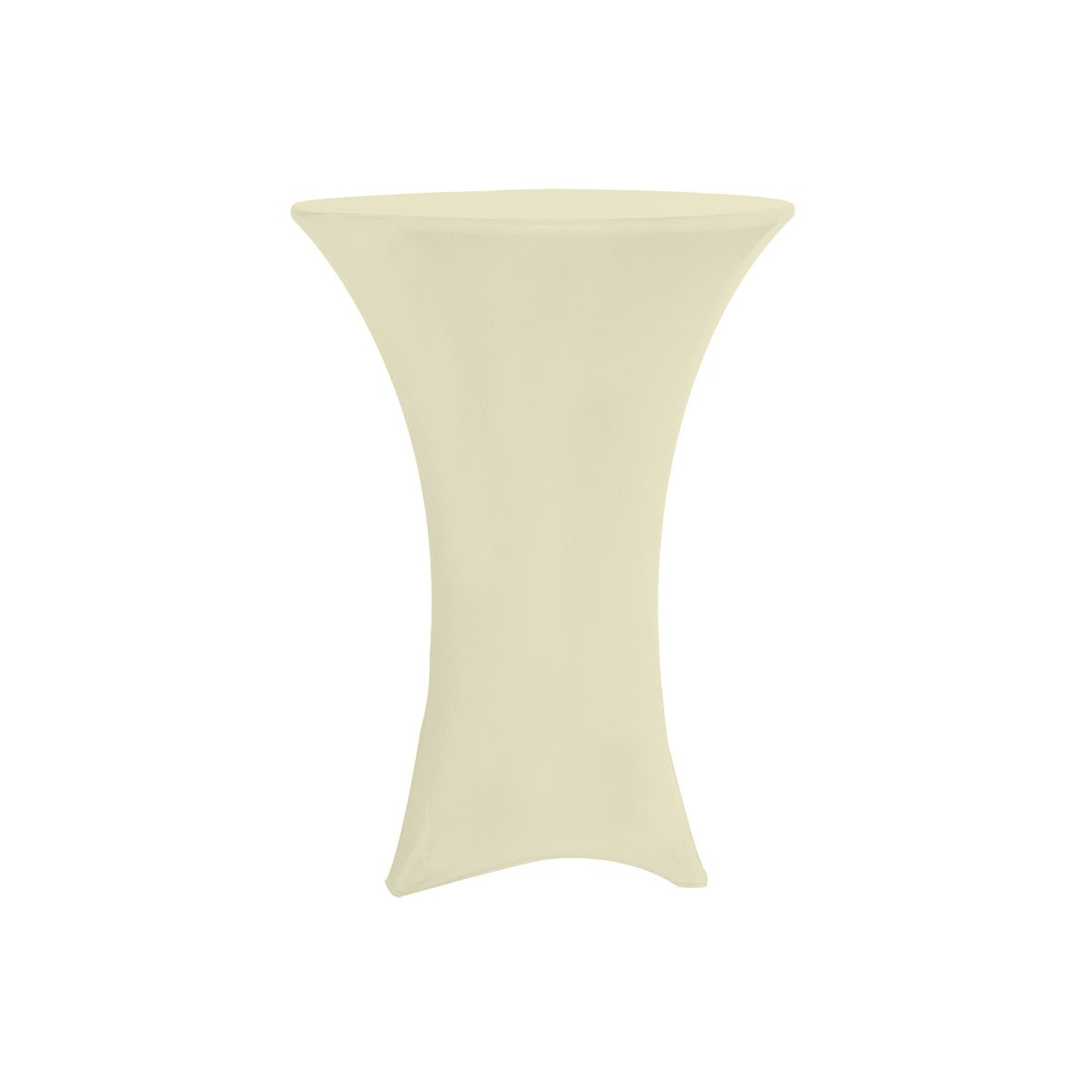 Your Chair Covers Highboy Cocktail Round Fitted Stretch Spandex Table Cover, 36''L, Ivory