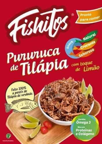 10 Pururuca De Tilapia Salgadinho Fishitos 100% Natural 35gr