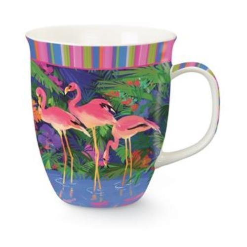 UPC 096164718035, Pink Flamingos in Tropical Paradise Coffee Latte Tea 16 oz Mug Cup