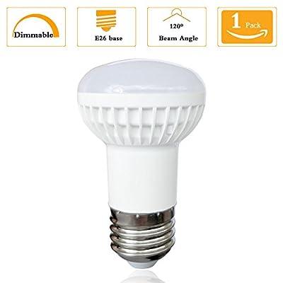 R16 7 Watt Dimmable LED Light Bulb Replacement 70 Watt Incandescent,E26 Medium Base 2700K Warm Yellow 120 Volt 700 Lumens Incandescent R16 Mini Reflector Light Bulb (1 Pack)