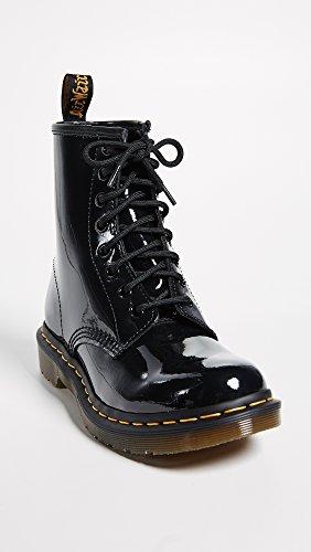 Dr. Martens Women's 14-Eye Vonda Casual Boot, Black Black Patent Lamper