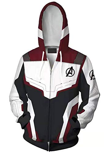 Avengers Hoodies,Avengers Hoodies with Zipper Cosplay Costume for Men Boys Kid Size 5/6