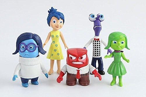 5pcs/Set Action Figure Toys Inside Out PVC Action Figures Toys Inside Out Movie Characters Toys Joy, 7.5cm-10cm PVC Figure Five Emotions Anger Joy Fear Disgust Sadness dolls - Kids Toys by AP