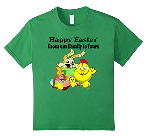 [Kids Happy Easter From Our Family To Yours Family Matching Shirts 10 Grass] (Social Media Sites Costumes)