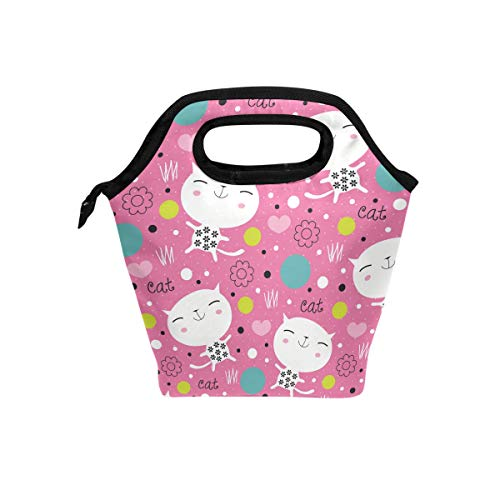FANTAZIO meal package containers Endearing Kitty Lunch bag