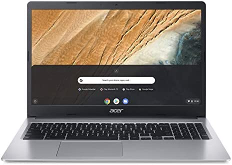 Acer Chromebook 315 Laptop Computer/ 15.6″ Screen/ Intel Celeron N4000 up to 2.6GHz/ 4GB DDR4/ 32GB eMMC/ 802.11AC WiFi/ Pure Silver/ Chrome OS/ Work from Home/ iPuzzle 128GB SD Card