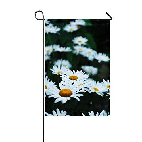 ZLU Garden Flag Chamomile Flower Bed Field 12x18 inches