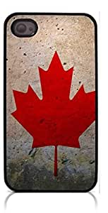 HeartCase Hard Case for Iphone 4 4G 4S (Canada Flag )