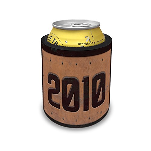 Slap Can Coolers Industrial Metal Rusty Year 2010 Insulator Sleeve Covers ()