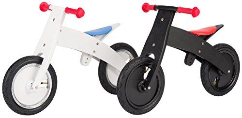 BIKESTAR-Premium-305cm-12-pulgadas-Bicicleta-sin-pedales-para-nios-de-2-aos-con-el-marco-ajustable–Edicin-de-madera-natural–Negro–Crece-a-la-vez-que-su-hijo