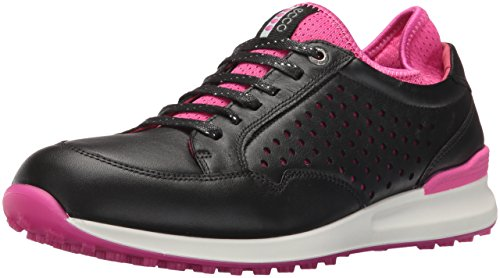 ECCO Women's Speed Hybrid Golf Shoe, Black/Raspberry, 41 EU/10-10.5 M US
