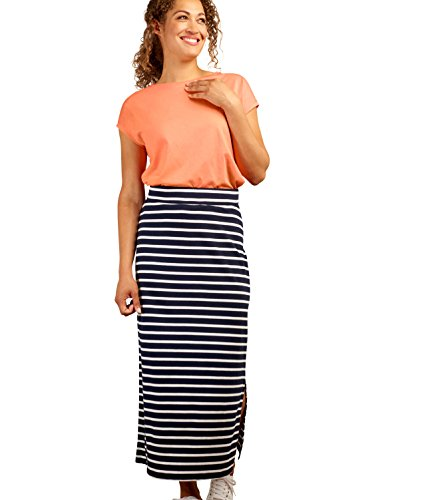Wool Overs Jupe Maxi - Femme - Jersey Navy/White