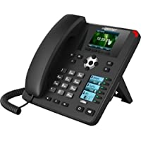Fortinet | FON-375 | FortiFone-375 IP Phone with 2.8/2.4 dual color screen, 16 programmable keys, PoE and 10/100/1000 LAN and PC connections.