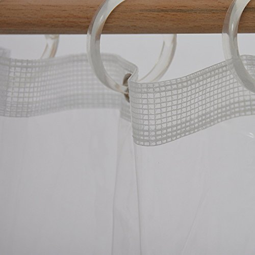 Clear Plastic Shower Curtain Liner Heavy Duty Durable