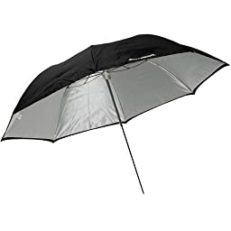 Westcott 2016 45-Inch Optical White Satin with Removable Black Cover Umbrella