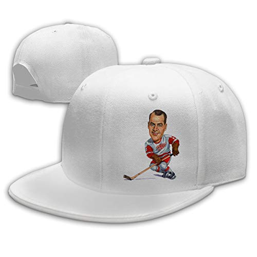 Men Women Gordie-Howe-Painting Baseball Cap Classic Adjustable Plain Hat White