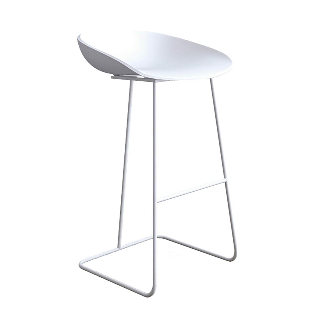4 Leisure Bar Chairs Large Seats Dining Chairs Nordic Style High Stool Minimalist Bar Stools for Metal+Plastic for Bar Pub Counter Kitchen Cafe Office