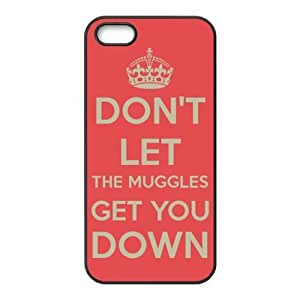 Generic High Quality Don't Let The Muggles Get You Down Back Skin Cover Case for iPhone 5/5s ADI-b34