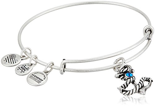 Alex and Ani Anchor III EWB, Rafaelian Silver Bangle Bracelet (Womens Anchor)