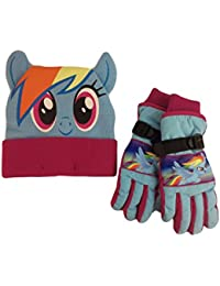 My Little Pony Knit Beanie Hat Thinsulate Gloves For Girls Ski Set Winter  Cold. ABG Accessories a3236733b19e