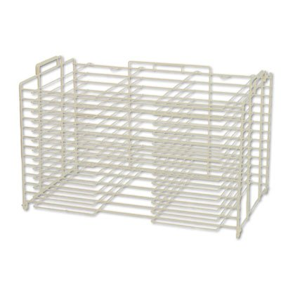 Board Storage/Drying Rack, 22w x 28d, White, Sold as 1 Each (Poster Display Board Rack)