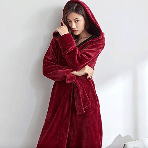 ZLR Pigiama ispessimento sciolto inverno Lady Plus Cinghia a sezione lunga Camicia da notte Abbigliamento casa Accappatoi ( dimensioni : XXL )
