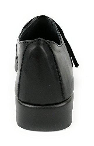 Zerimar Chaussures en Cuir Pour Femme Chaussures Femme Confort Couleur Noir Taille 38