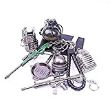 AOVITY set of 7 Miniature Metal Removable Cartridge Exquisite PUBG Keychain Accessories Keychain Charm Souvenir Gifts