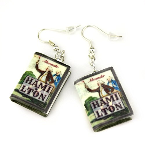[ALEXANDER HAMILTON Polymer Clay Mini Book Earring Pair by Book Beads] (Diy Cute Costumes For Teenagers)