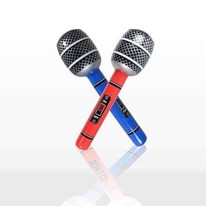 1 x Mini Micrófono Inflable Neon Color Decoración - 10.5 pulgadas ...
