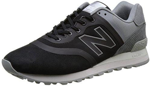New Balance 574, Scarpe da Ginnastica Basse Uomo Nero (Black)