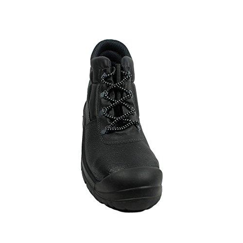 Berner - Calzado de protección de Piel para hombre Negro negro Negro - negro