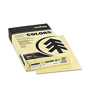 Boise MP2204-CY FIREWORX Colored Paper, 20-Pound, 8-1/2 x 14, Crackling Canary, 500 Sheets/Ream
