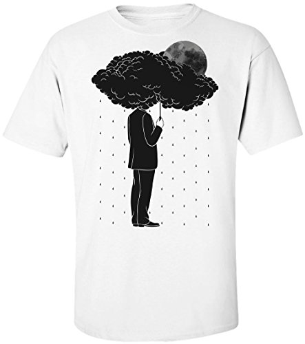 Holding A Cloud Instead Of Umbrella Men's T-Shirt Extra Large