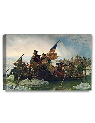 DECORARTS - Washington Crossing The Delaware, Emanuel Leutze Art Reproduction, Giclee Print for Home Wall Decor. 16x24