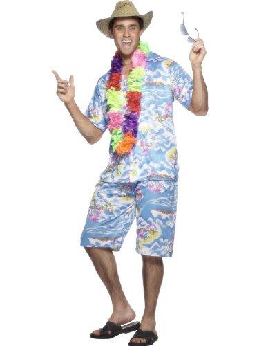 1602f58a6 Hawaiian Shirt and Shorts Set - Blue - Men's: Amazon.co.uk: Kitchen & Home