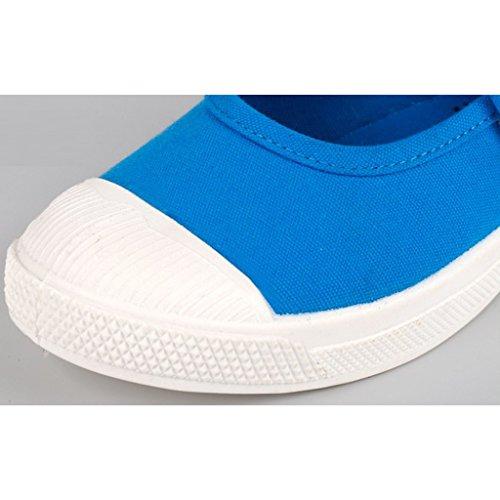 Un Par Zapatos Infantiles De Lona Zapatillas Sales De Mary Jane Para Niños Chicos Chicas - Rojo, 29 Azul