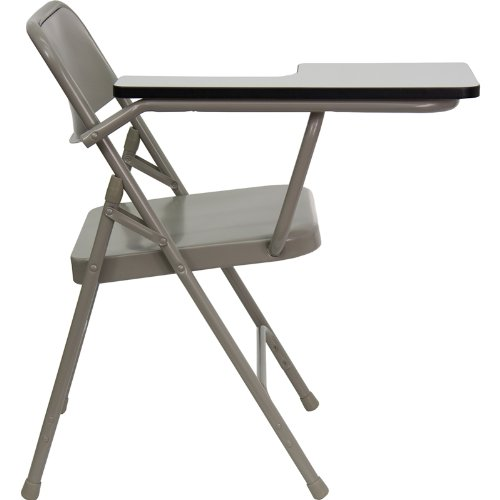 Flash Furniture Premium Steel Folding Chair with Right Handed Tablet Arm